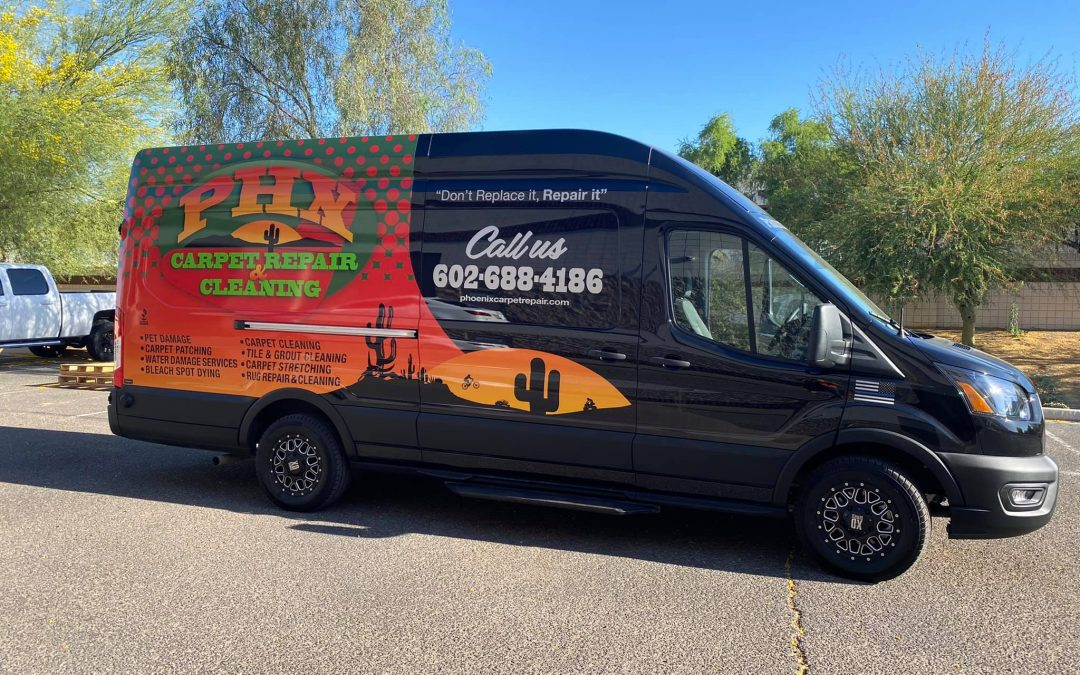 New Carpet Repair & Cleaning Truck Just Added to Our Fleet!